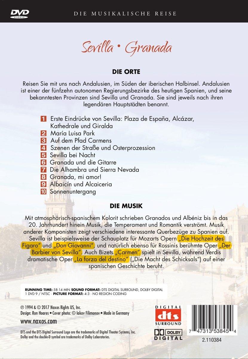 Musikalische Reise: Sevilla Granada [Italia] [DVD]: Amazon.es ...
