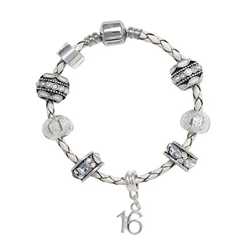 ebc366070 ... Happy Birthday Leather Charm Bracelet Pandora Style Gift Boxed (16th) .