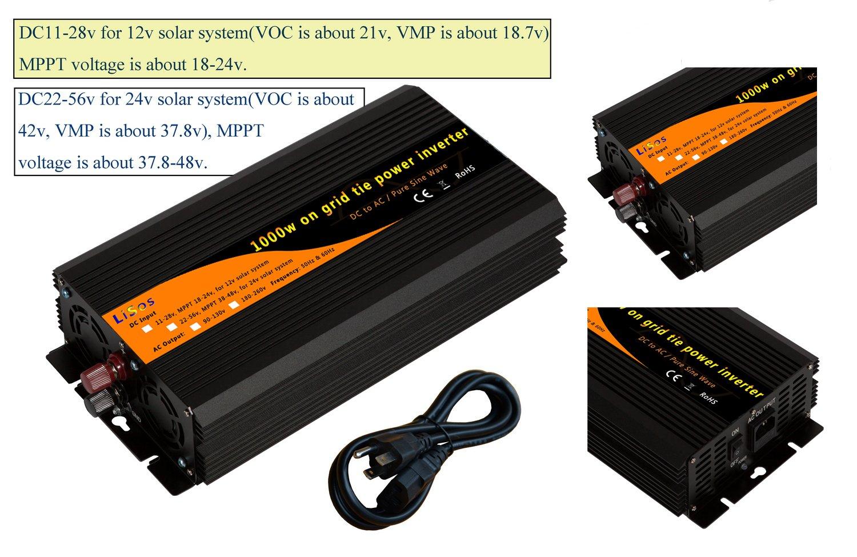 1000w on Grid Tie Pure Sine Wave Power Inverter DC11-28v to AC90-130v