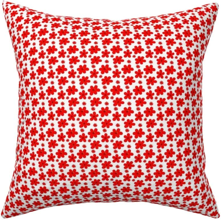 Couch Car Square Cushion Cover Cherry Floweret Cottage Country Calico 40x40cm Cotton Sofa Throw Pillowcase Set Home Decoration For Bedroom Living Room Home Garden Store Pillow Cases