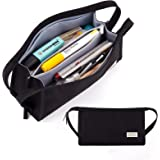 Skycase Large Pencil Case,5 Compartments Pencil Bag Large Storage Pouch,Portable Big Capacity Pencil Case for Pens, Pencils,E