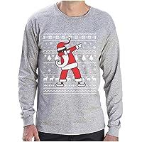 Pull de Noël Design Dab Père Noël Cool Hip-Hop T-Shirt Manches Longues Homme