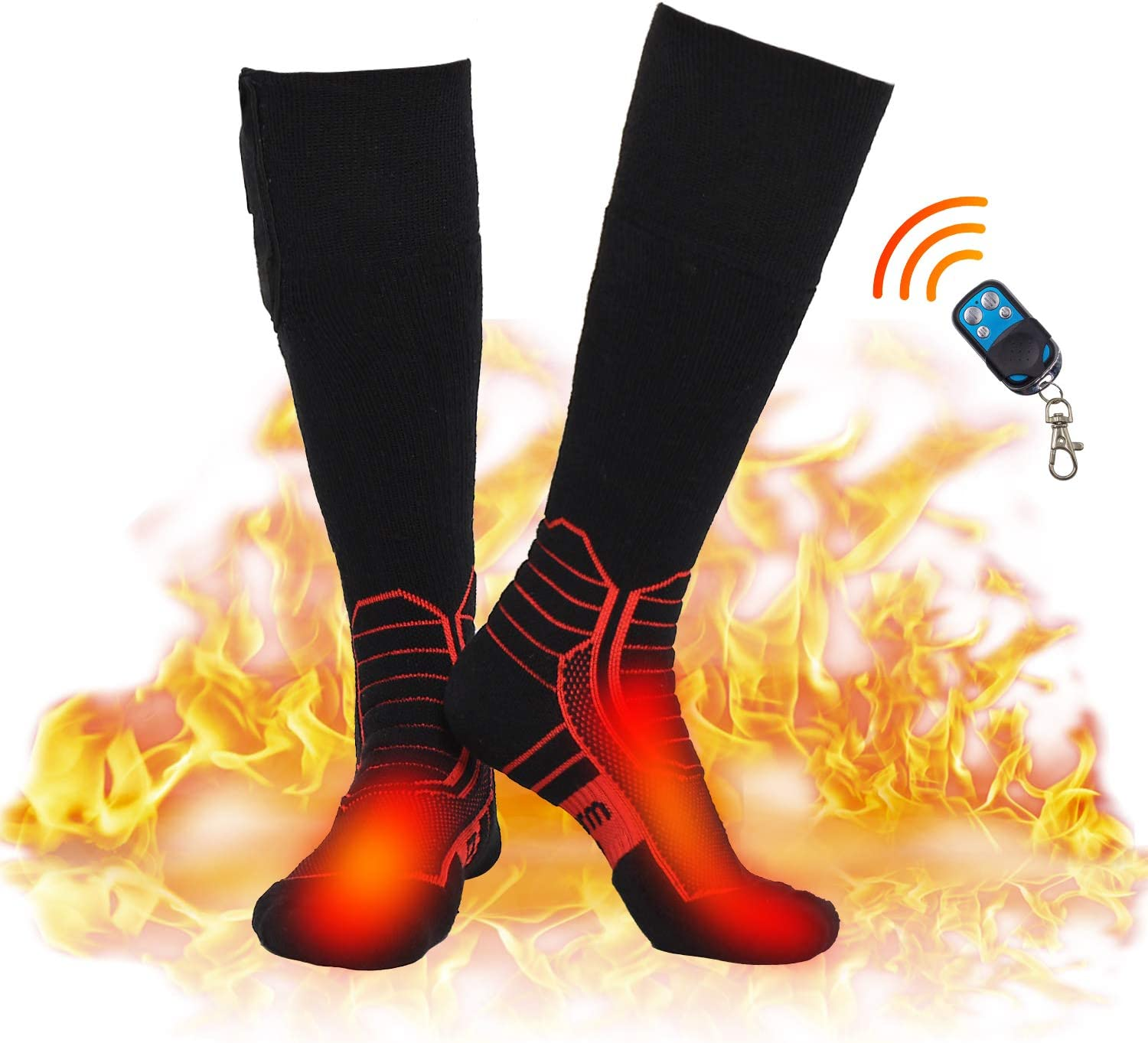 DR. WARM RECHARGEABLE BATTERY HEATED SOCKS WITH REMOTE