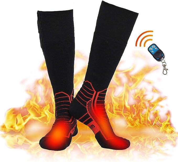 Eine Gr/ö/ße Hook Magnetsocken Rot wei/ß Heizsocken Herren Heated Socks W/ärmesocken Thermo Beheizte Socken Beheizbar Damen Winter Thermosocken Turmalinsocken Schwarz W/ärme Socken