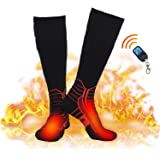 Dr.Warm Wireless Heated Socks, Remote Control 2600mAh 7.4V Rechargeable Battery Thermal Foot Warmers Heating Sock for…