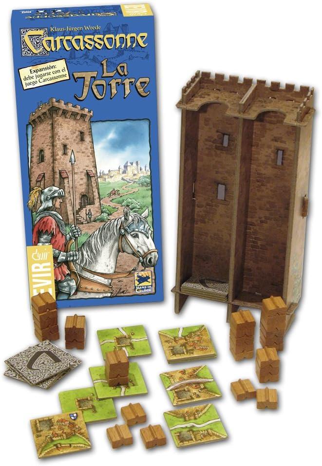 Devir - Carcassonne La Torre, Juego de Mesa (BGTORRE): Amazon.es ...