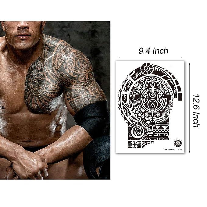 LEOARS Dwayne-6 Leoars - Tatuaje temporal para hombre, diseño ...