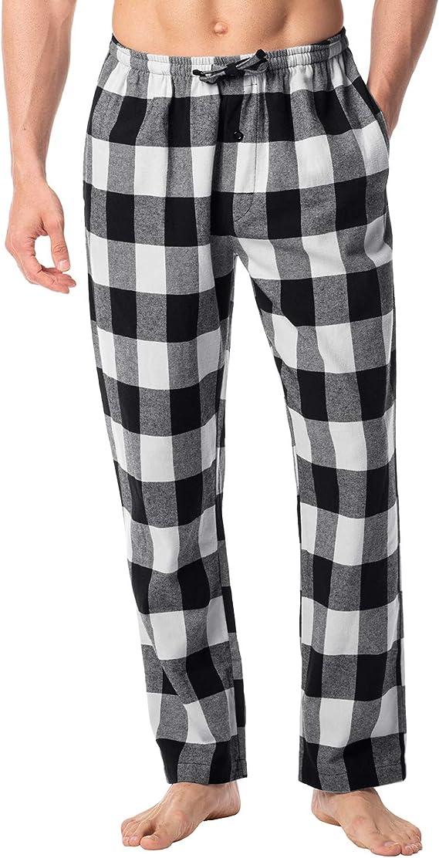 LAPASA PerfectSleep - Pijama de 100% Algodón Franela con Estampado Escocés para Hombre M38/M39: Amazon.es: Ropa y accesorios