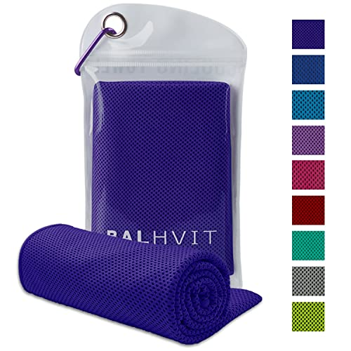 Balhvit Cooling Towel, Ice Towel, Microfibre Towel For Instant Cooling Relief, Cool Cold Towel for Yoga Beach Golf Travel Gym Sports Swimming Camping as Cooling Neck, Headband, Bandana