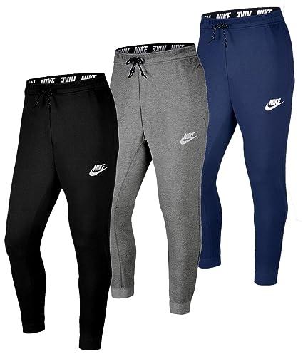 8d29aae0f55cfc Nike Herren Air Fleece Jogger Hose Light Bone Black Bla XL  Amazon ...
