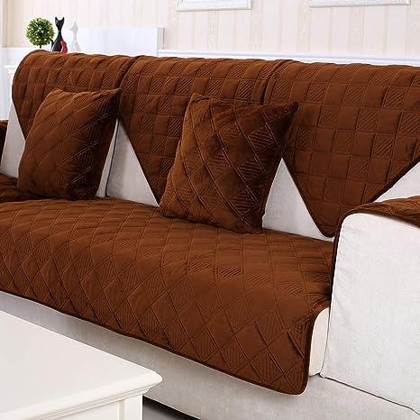 YLCJ Cubierta de sofá de Tres Asientos Rejilla Cubierta de ...