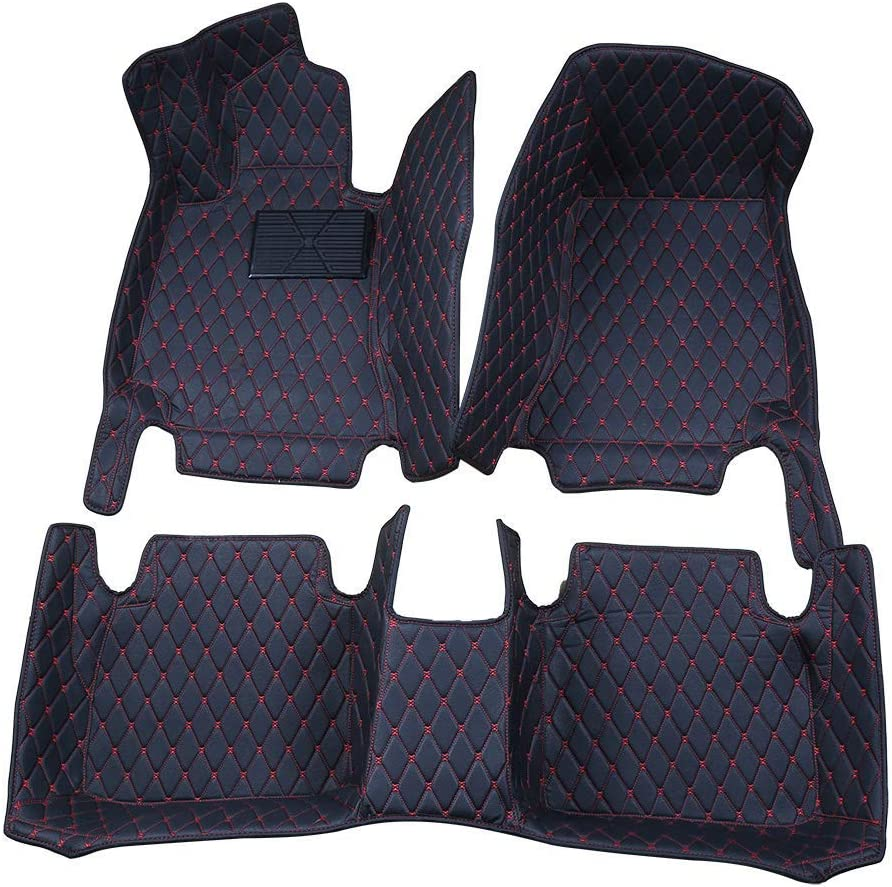 Worth-Mats Complete Sets All Weather Floor Mats for Alfa Romeo Stelvio (Black with Red Stitching) The in Similar Product