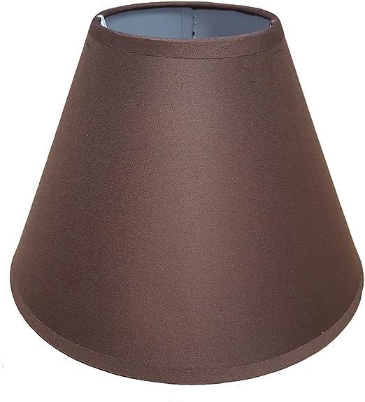 Pantalla de 23 cm, para lámpara de techo o mesa Marrón chocolate ...