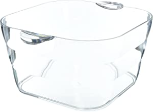 Prodyne Big Square Party Beverage Tub, Clear