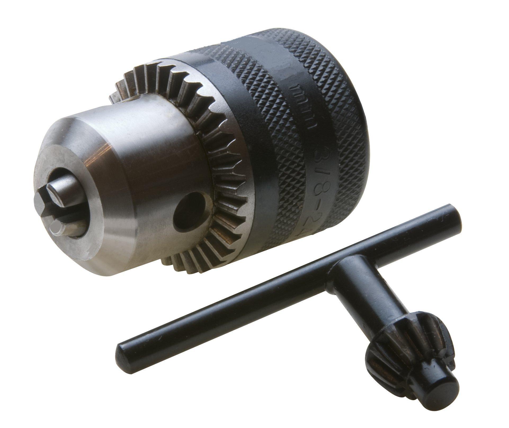 LFA/Reichel Hardware 4220AO 1/16-1/2-1.5-13 mm Capacity 3/8-24'' Threaded Mount Keyed Light Duty Drill Chuck