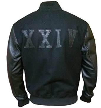 ae33f6aadbf Michael B Jordan Kobe XXIV Battle Leather Jacket, Faux Leather, XXS-3XL at  Amazon Men's Clothing store: