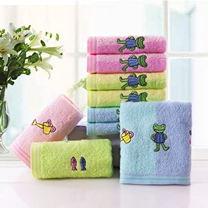 QUEENS Nueve pequeñas toalla de algodón ropa cara pequeña toalla de algodón suave toalla para niños