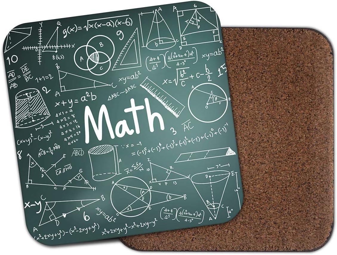 Posavasos Cool Maths con ecuaciones matemáticas para aprender a enseñar a profesor, regalo para estudiantes #19126: Amazon.es: Hogar