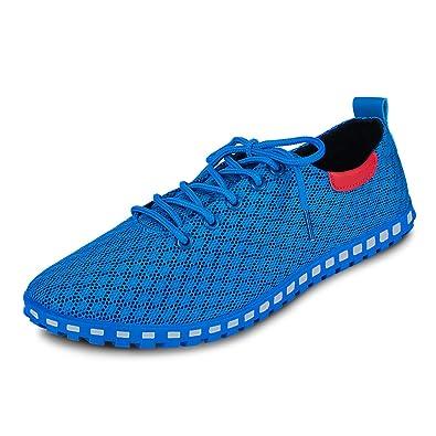 Eastiano Zapatos de Cordones de Caucho Para Hombre 42 EU, Color Azul, Talla 42 EU