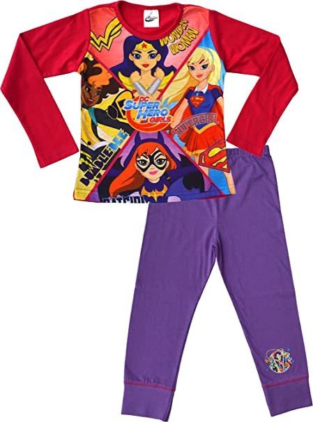 DC Super Hero Girls - Pijama - para niña rosa Rose
