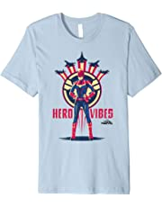 Captain Marvel Movie Hero Vibes Planes Graphic T-Shirt
