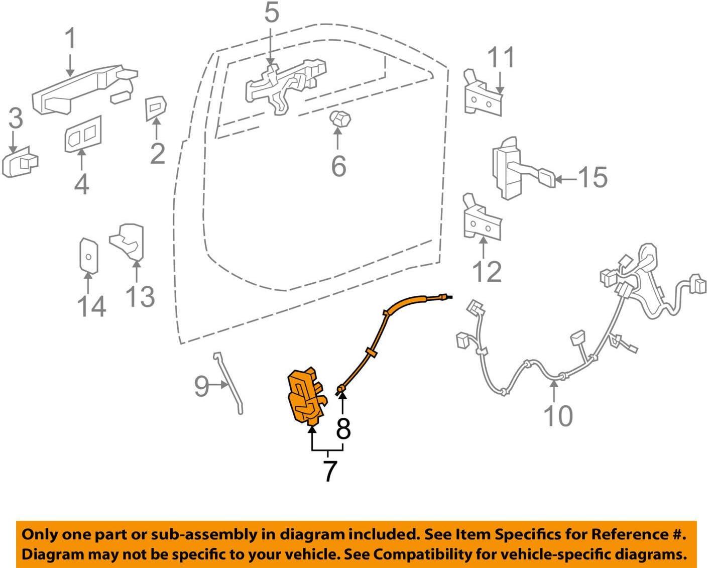 Amazon Com General Motors 22922943 Door Lock Actuator Motor Automotive