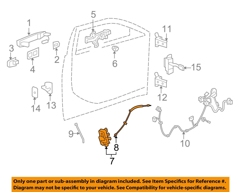General Motors 22922943 Door Lock Actuator Motor 71 Nova Wiring Diagram Front Automotive