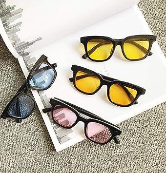 BHLTG Gafas de Sol Personalidad de los Hombres Color Lente ...