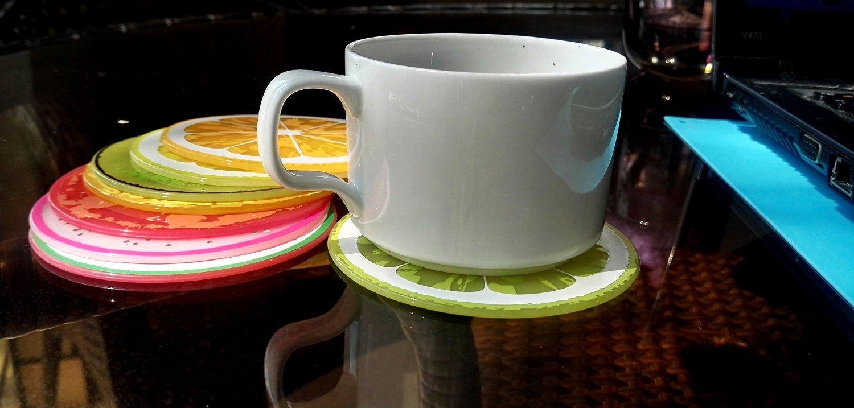 Fablcrew sottopentola in silicone mat Round Fruit slice Hot slip silicone isolamento Mat tovaglietta Home 7PCS