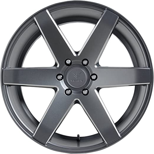 Verde Wheels V24 Invictus Matte Graphite Wheel with Painted 22 x 9.5 inches //6 x 135 mm, 31 mm Offset