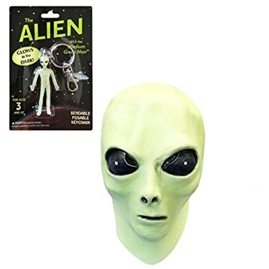 Glow in the Dark Alien Face Mask with Alien Bendable Toy  sc 1 st  Amazon.com & Amazon.com: Glow in the Dark Alien Face Mask with Alien Bendable Toy ...