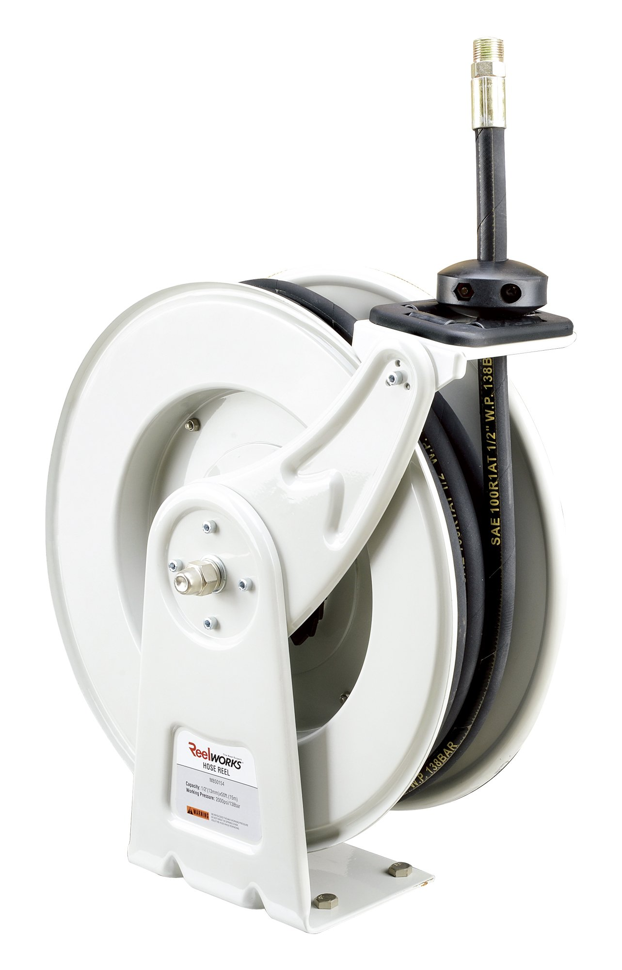 REELWORKS Heavy Duty Spring Driven Hose Reel (1/2'' x 50 Ft. OIL HOSE REEL) by Reelworks (Image #7)