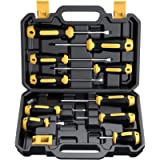 Magnetic Screwdriver Set 10 PCS, CREMAX Professional Cushion Grip 5 Phillips and 5 Flat Head Tips Screwdrivers with Case…