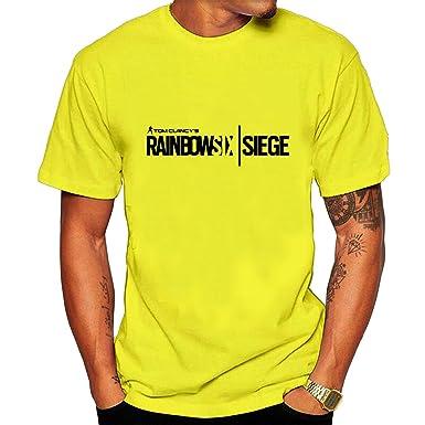 Amazon.com  Men s Tom Clancy s Rainbow Six Siege Logo T-shirt White ... 9b84f661f5
