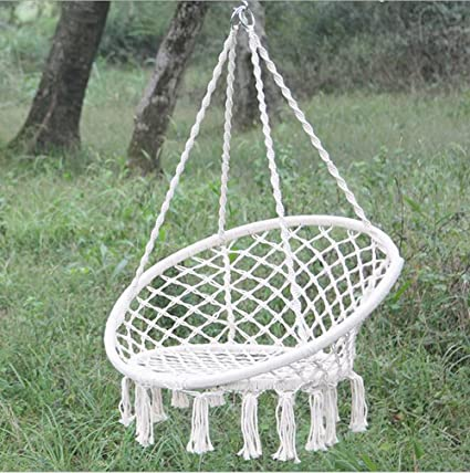Amazon.com : Hanging Rope Hammock Chair Porch Swing Seat Sky Chair ...