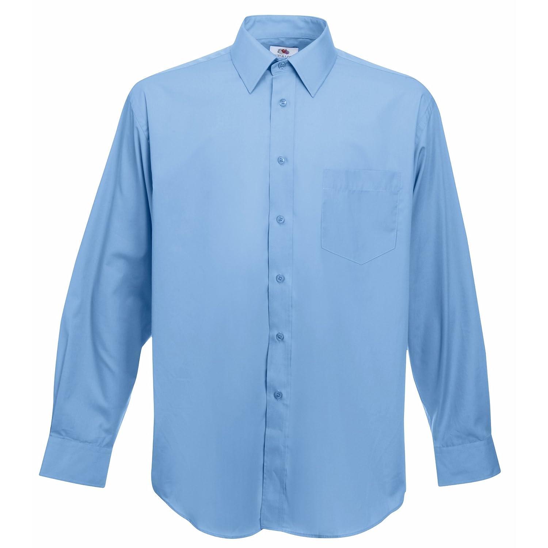 Fruit of the Loom Long Sleeve Poplin Shirt Camicia Uomo