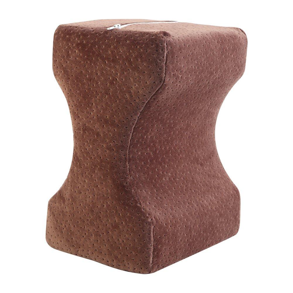 Yosoo RAM gamba cuscino fianchi ginocchia comfort sostegno sollievo dal dolore pressione cuscino con federa lavabile Coffee