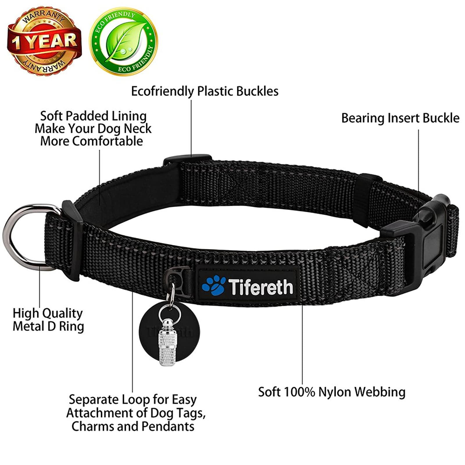 Dog Collars Nylon Buckle Dog Collar Comfortable - 2