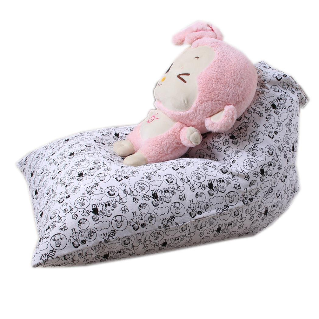 DDLBiz Kids Beadroom Household Stuffed Animal Plush Toy Storage Bean Bag Soft Pouch Chair (C)
