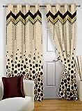 Story at Home Window Curtain, Brown, 118 x 215 cm, DBR4017, 1 Piece