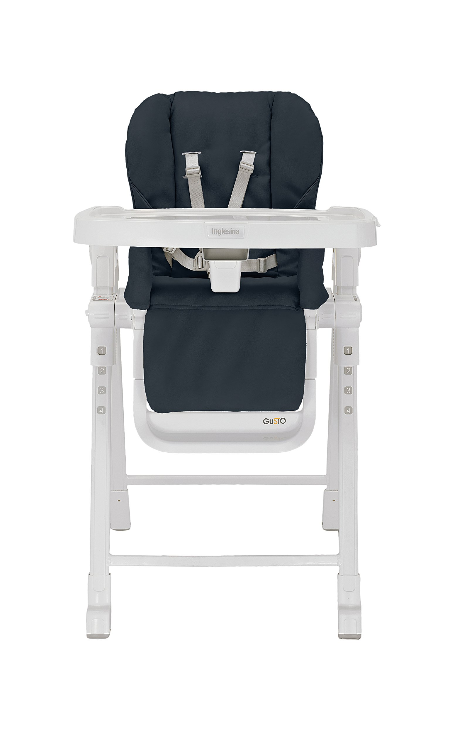 Inglesina Gusto HighChair - Fast and Easy Adjustable Baby High Chair for the Modern Family - Removable Tray Included {Graphite} by Inglesina