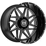 Hostile H108 Sprocket 22x12 8x170 -44mm Black/Milled Wheel Rim
