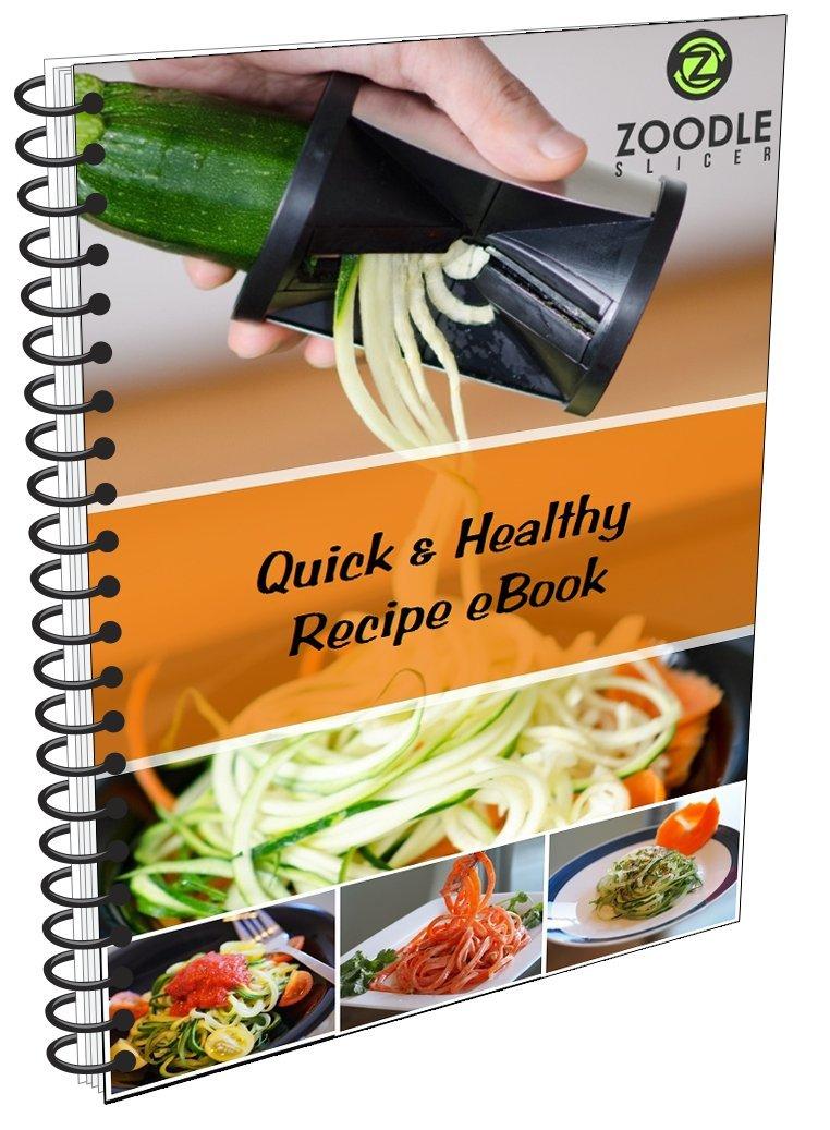 The Original Zoodle Slicer - Complete Vegetable Spiralizer Spiral Slicer Bundle (With Cleaning Brush, Peeler & eBook) by Zoodle Slicer (Image #4)