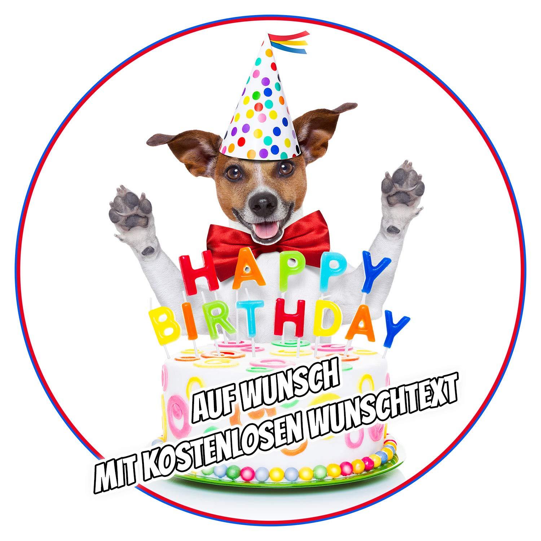 Tortenaufleger Geburtstag Party Tortenbild Fondant Oblate Hunde  L26