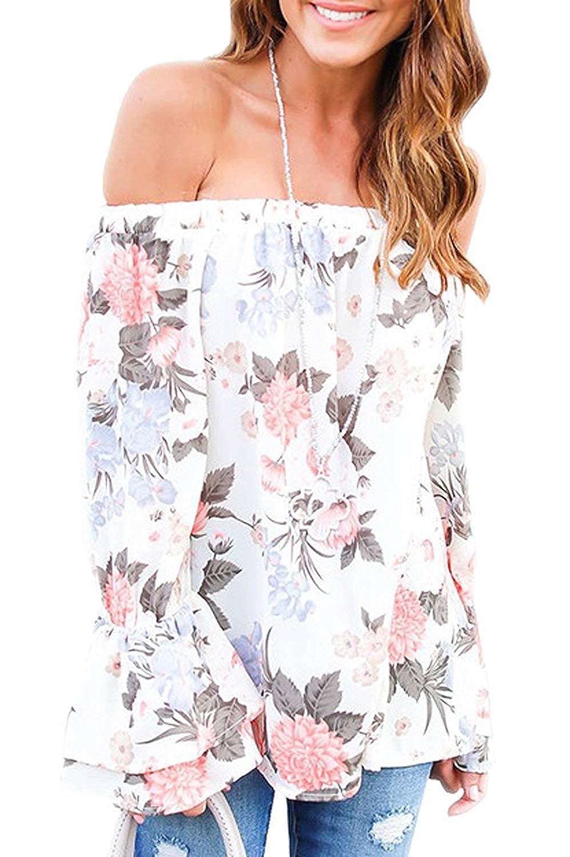 Sommer Damen Geblümt Floral Blumendruck Kurzarm T-Shirt Langes Hemd Kleid S-5XL