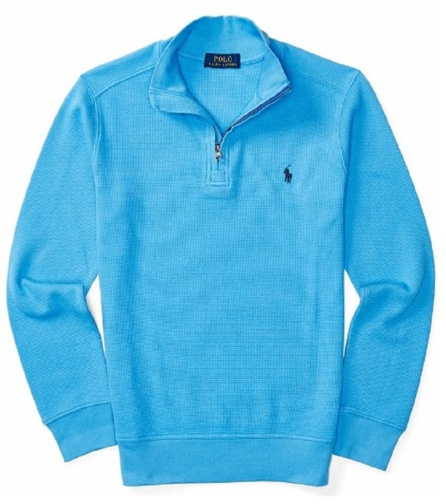 Polo Ralph Lauren Boys' 8-20 Waffle Knit Pullover Sweater (XL(18-20), Riviera Blue)