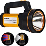 Heavy Duty Led Torch USB Rechargeable Super Bright Hand held Spotlight Flashlight High Power Big Powerful Searchlight…