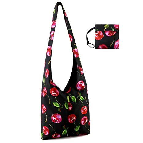 8300fbd1fcaa Reusable-Grocery-Shopping-Tote-Bag-Foldable with Pouch Large Crossbody  Messenger