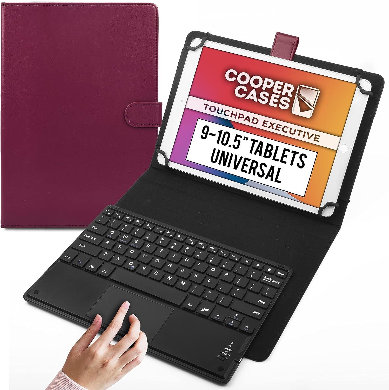 Cooper Panel Táctil Ejecutiva [Teclado de Ratón Multitáctil] Funda para Tableta de 9-10.5 Pulgadas   Ajuste Universal   iPadOS, Android, Windows ...