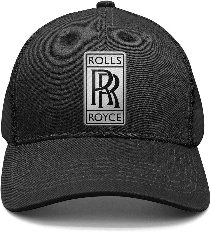 NIDHBD Breathable Rolls-Royce-Logo-Symbol-Emblem Dance Cap Womens Mens